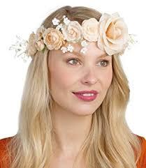 blumen haarschmuck hochzeit six hochzeit damen blumen haarschmuck blumenkranz mit blüten in