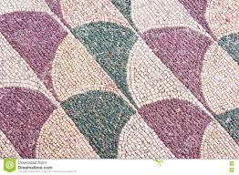 roman mosaic floor at the roman baths of caracalla stock photo