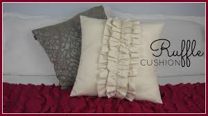 How To Make Sofa Pillow Covers Step By Step Sewing Diy Ruffle Cushion Cover Youtube
