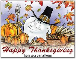 thanksgiving dental and fall folding laser and postcards