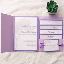 affordable pocket wedding invitations affordable tree purple pocket wedding invitations ewpi140