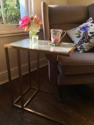 Sofa Table Ikea Hack Create This Gold U0026 Marble Side Table With This Easy Ikea Hack