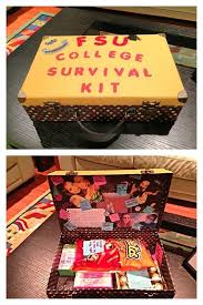 this survival kit includes things like pictures food