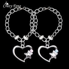 s day charm bracelet s day jewellry silver color rhinestone heart pendant
