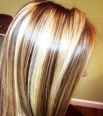 blonde hair with chunky highlights short brown hair with chunky blonde highlights