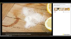 how to remove stains from butcher block countertops 2017 youtube
