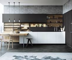 interior decoration for kitchen black white wood kitchens ideas inspiration