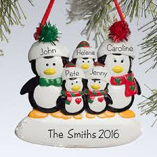 penguin family sup sup personalized ornament 5 names