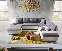 Wohnzimmer Couch Kaufen Wohnlandschaft Cariba 322x250 Weiss Grau Schlaffunktion Möbel