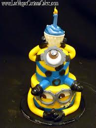 minion birthday cake minion birthday cake with cupcake 459 las vegas custom cakes