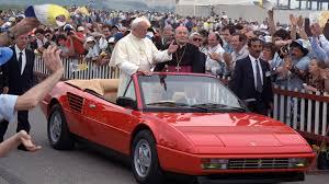 pope john paul 2 in ferrari mondial cabriolet cars pinterest
