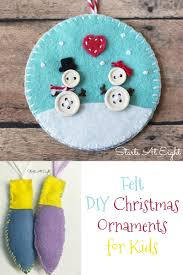 felt diy christmas ornaments for kids startsateight