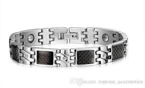 bracelet magnetic stainless steel images Newest health stainless steel bracelets for men fashion steel jpg