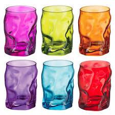 bicchieri colorati bormioli bormioli set 6 bicchieri sorgente vari colori 30 cl acqua