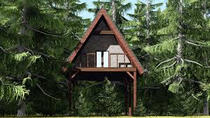 the remote stealth cabin is the marriage of a tree house and a