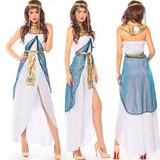 Egyptian Halloween Costumes 2017 Womens Ladies Egyptian Queen Goddess Cleopatra Fancy Dress