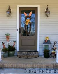 Easter Decorations Door by Easter Front Porch Daisymaebelle Daisymaebelle