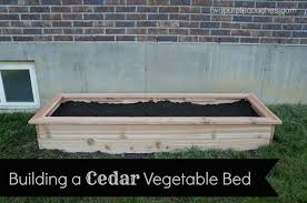 how to build a cedar raised vegetable bed