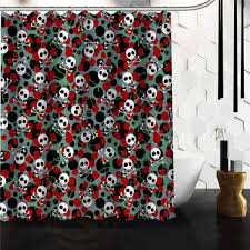 Skull Shower Curtain Hooks Best Pink And Gray Shower Curtain Products On Wanelo