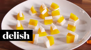 candy corn jell o shots delish youtube
