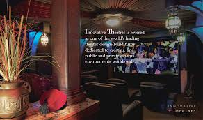 Innovative Theatres Custom Home Theater Design  Install - Home theater designers