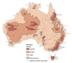 map of aus elevations geoscience australia