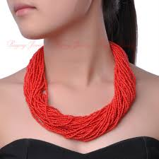 beaded necklace styles images Twist 16 creative pure colors 40 layers chain style bib pendant jpg