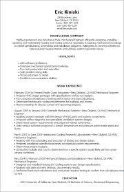 Resume Templates For Engineers Licensed Mechanical Engineer Sample Resume Haadyaooverbayresort Com