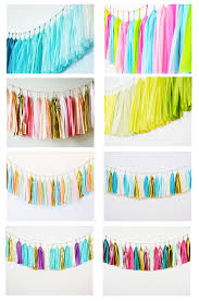 cheap 14 inch tissue paper tassels garland for letters balloons