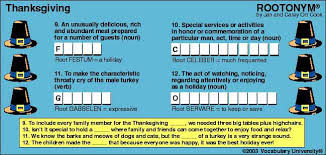 thanksgiving day vocabulary thanksgiving day vocabulary