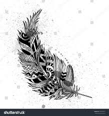 vector illustration abstract ornamental feather stock vector