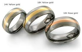 titanium gold rings images The best of both worlds with inlaid titanium rings avant garde jpg