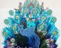 peacock centerpieces peacock centerpiece etsy