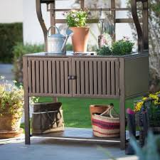 Outdoor Potters Bench Potting Benches Hayneedle