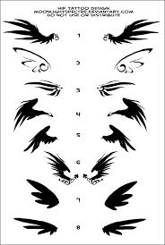 black ink wings tattoos designs black wings