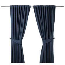 Ikea Curtain Rods Blekviva Curtains With Tie Backs 1 Pair Ikea 34 99 57