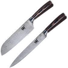 Best Quality Kitchen Knives Xyj Brand Quality Kitchen Knife Set 7 Inch Santoku 8 Inch