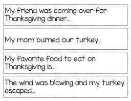 thanksgiving story starters by misha frander teachers pay teachers