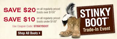Boot Barn Coupon Codes Bootbarn Com Save Up To 20 On All Boots Stinky Boot Trade In