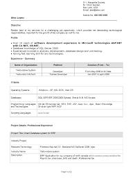 skill resume free software developer resume sample software