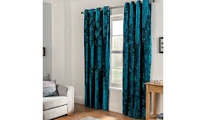 Teal Curtain Embossed Crushed Velvet Eyelet Curtains Teal Home Garden