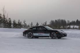 porsche 911 winter dancers porsche schools drivers in winter conditions motor