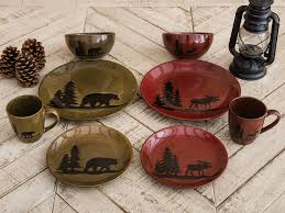 moose and lodge stoneware dinnerware collection