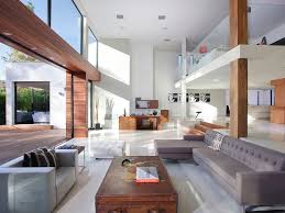 amazing home interior of architecture modern beverly house wood glass and