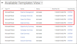 Document Template Excel Analyze Your Data With Excel Templates For Dynamics 365 Customer