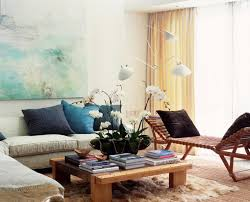 living turquoise living room with modular wall shelves and