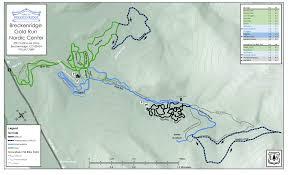Breckenridge Colorado Map by Gold Run Nordic Trail Map Breckenridge Recreation
