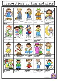 13 free esl prepositions of place and time worksheets