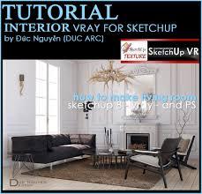 sketchup texture vray tutorial interior