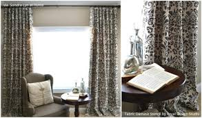 Painting Fabric Curtains Pull It Together With These 12 Stenciled Diy Curtains Ideas